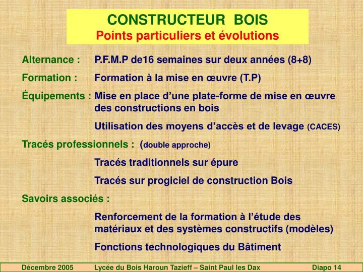 CONSTRUCTEUR  BOIS
