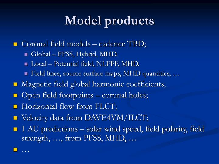 Model products