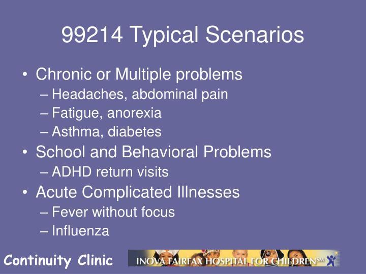 99214 Typical Scenarios