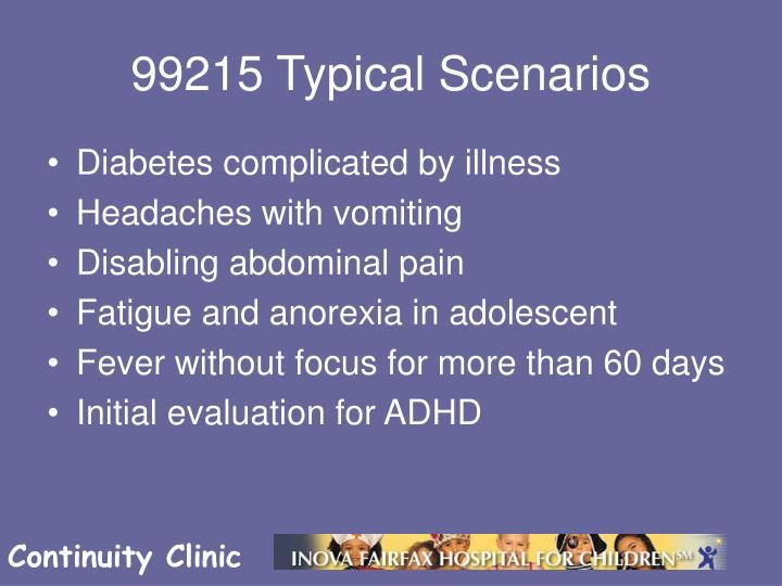 99215 Typical Scenarios