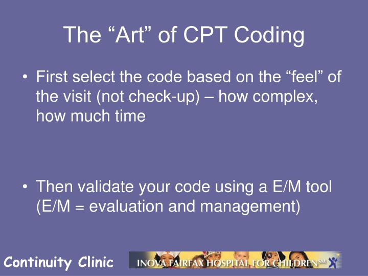 The art of cpt coding