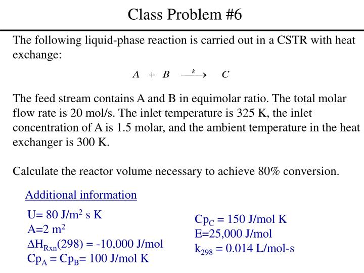 Class Problem #6