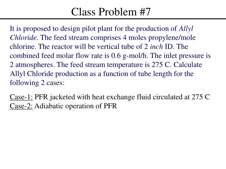 Class Problem #7