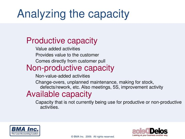 Analyzing the capacity