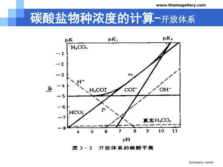 碳酸盐物种浓度的计算