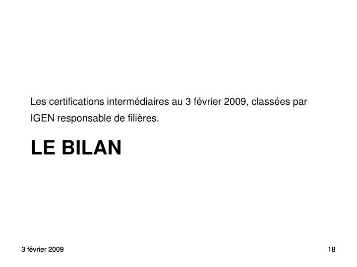 LE BILAN