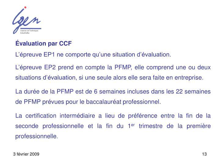 Évaluation par CCF