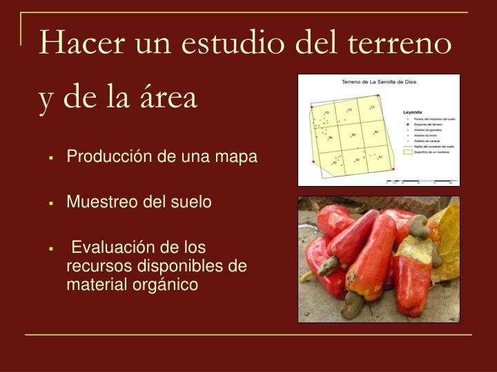 Producción de una mapa
