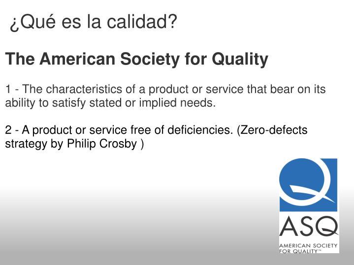 ¿Qué es la calidad?