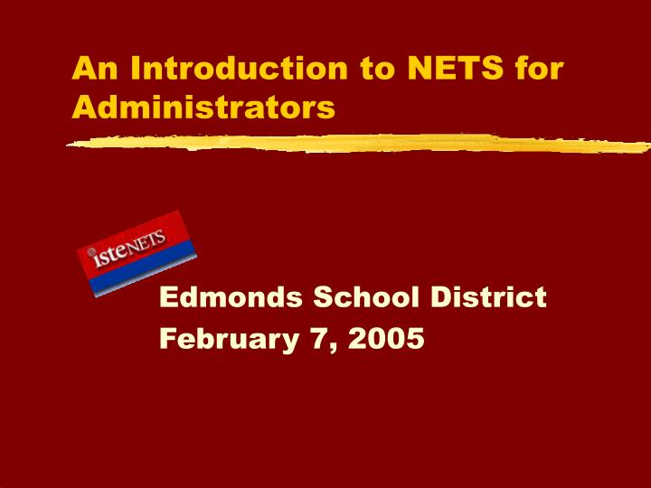 An introduction to nets for administrators