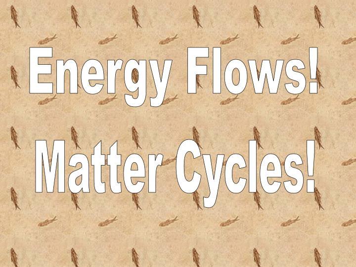 Energy Flows!