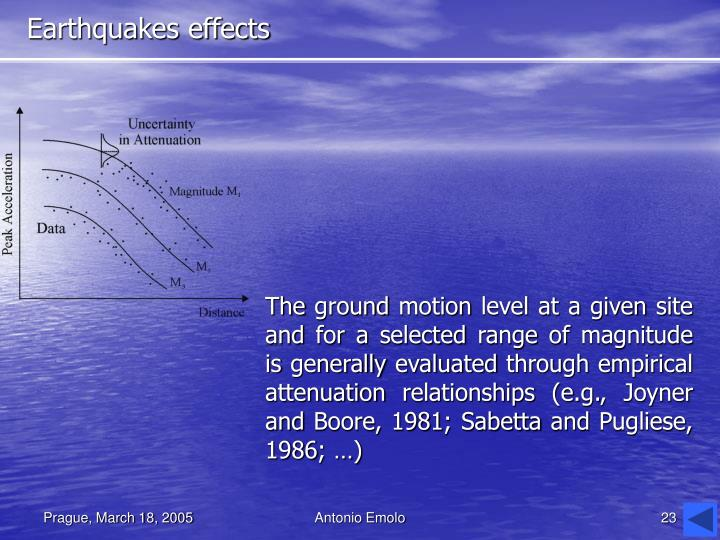 Earthquakes effects