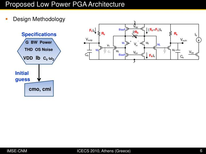 Proposed Low Power PGA Architecture