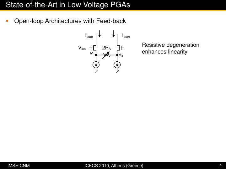 State-of-the-Art in Low Voltage PGAs