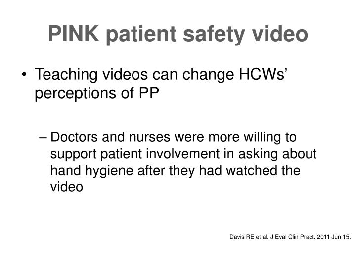 PINK patient safety video