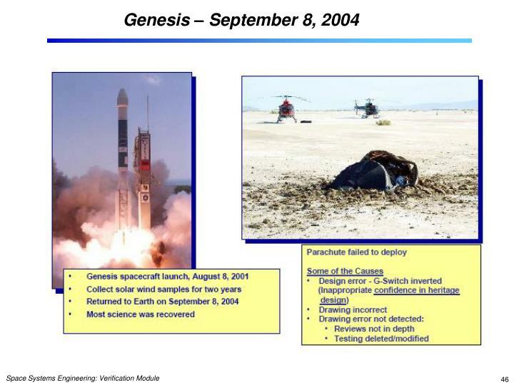 Genesis – September 8, 2004