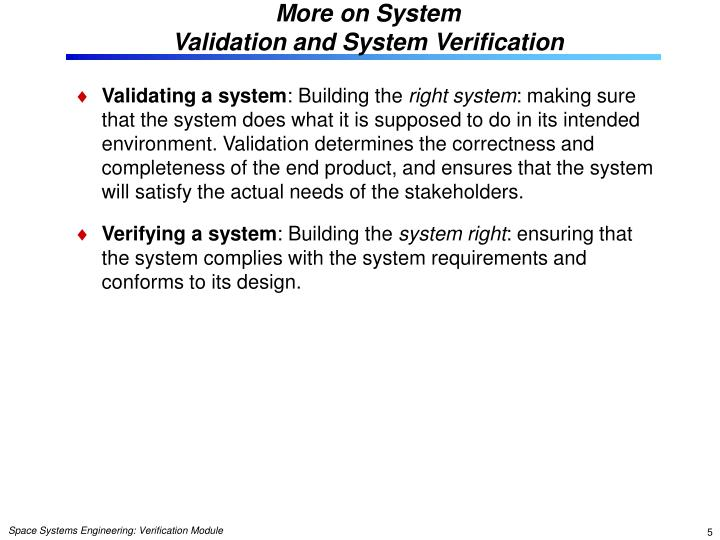 More on System