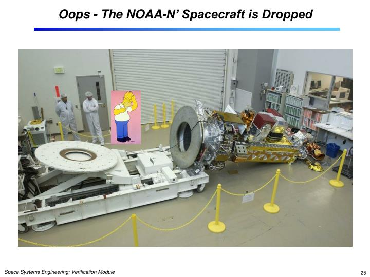 Oops - The NOAA-N' Spacecraft is Dropped
