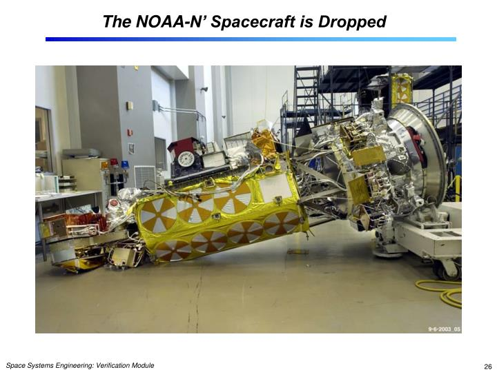 The NOAA-N' Spacecraft is Dropped