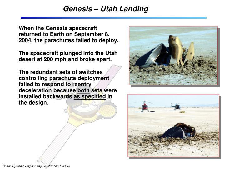 Genesis – Utah Landing