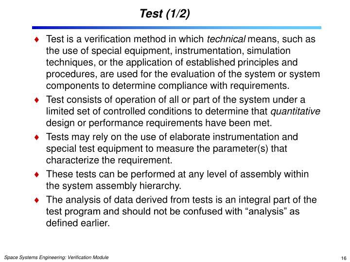 Test (1/2)