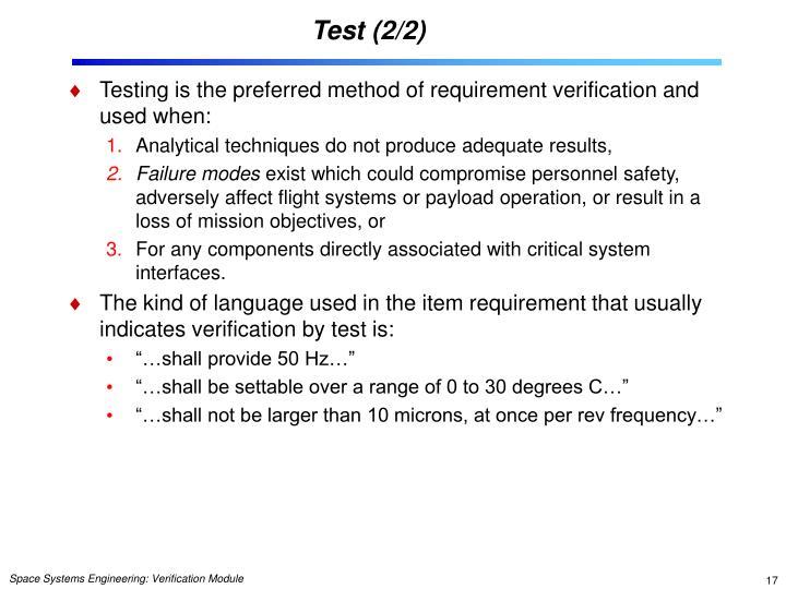 Test (2/2)