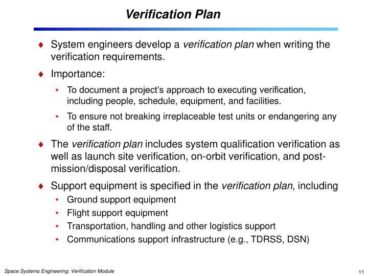 Verification Plan
