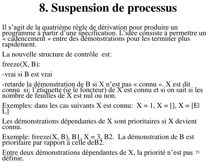 8. Suspension de processus