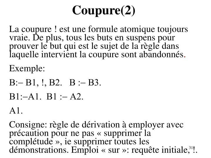 Coupure(2)