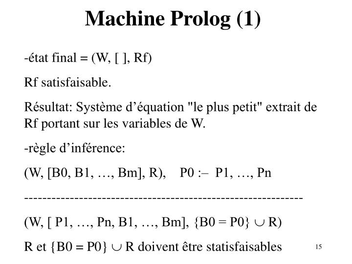 Machine Prolog (1)