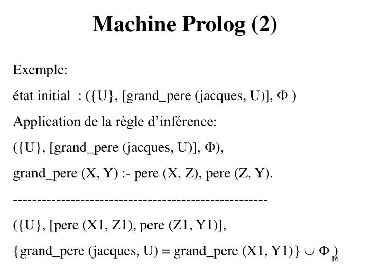 Machine Prolog (2)