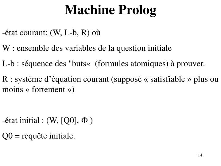 Machine Prolog