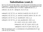 substitution cont 2