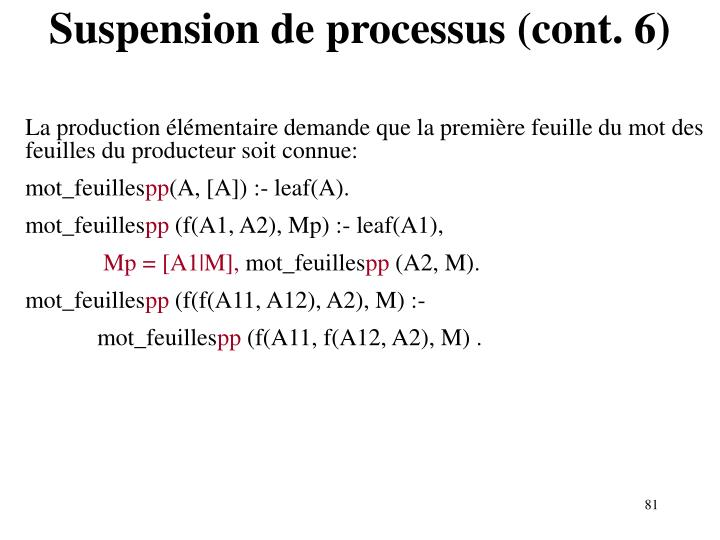 Suspension de processus (cont. 6)