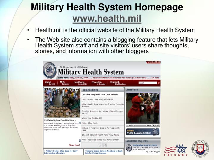 Military Health System Homepage