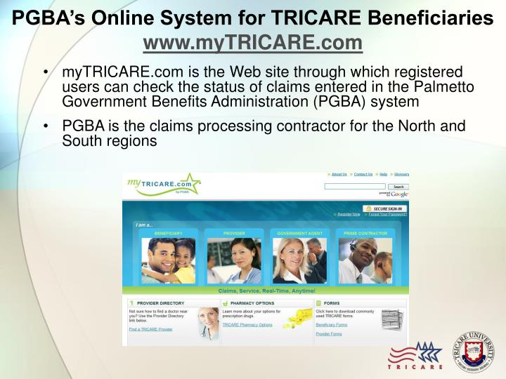 PGBA's Online System for TRICARE Beneficiaries
