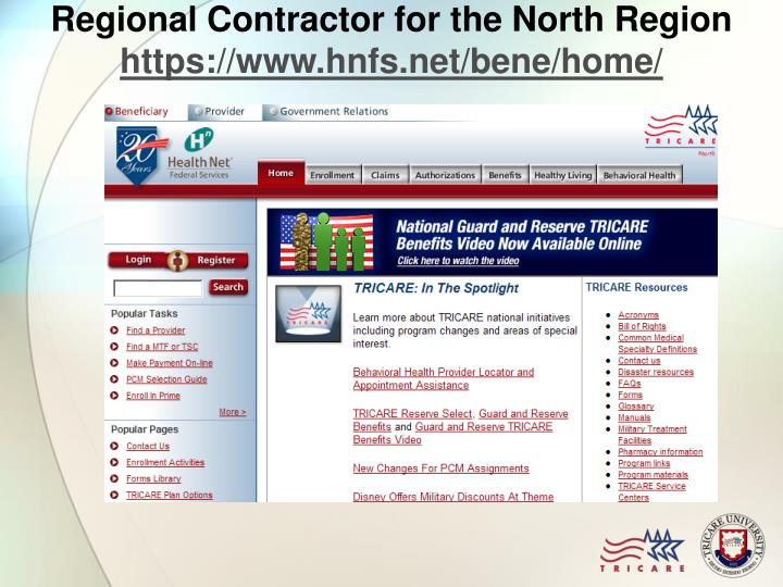 Regional Contractor for the North Region