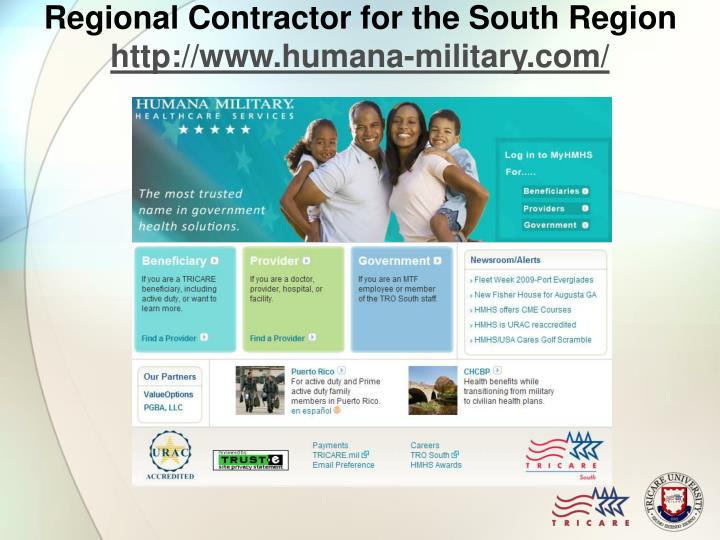 Regional Contractor for the South Region