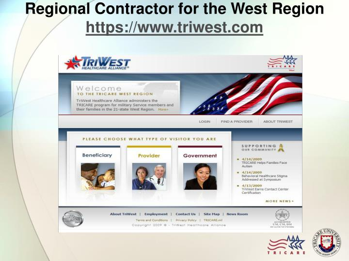 Regional Contractor for the West Region