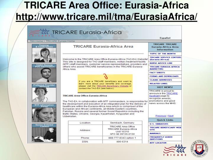TRICARE Area Office: Eurasia-Africa