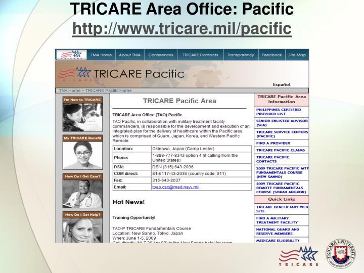 TRICARE Area Office: Pacific