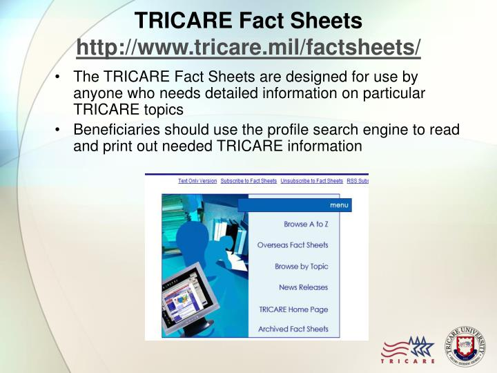 TRICARE Fact Sheets