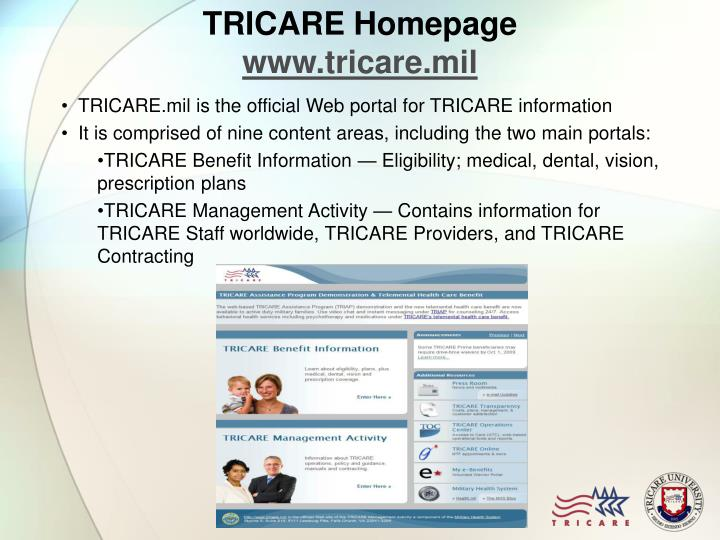 TRICARE Homepage