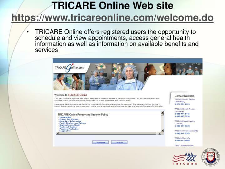 TRICARE Online Web site