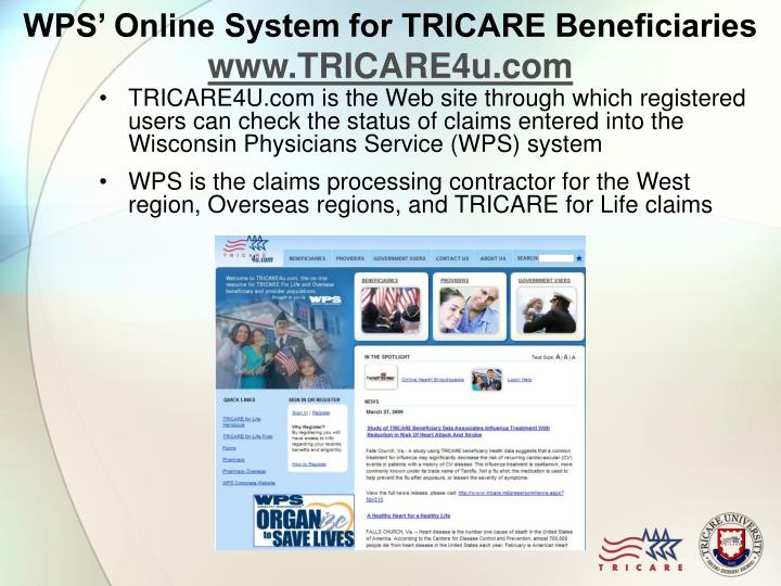 WPS' Online System for TRICARE Beneficiaries
