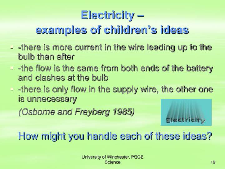 Electricity –