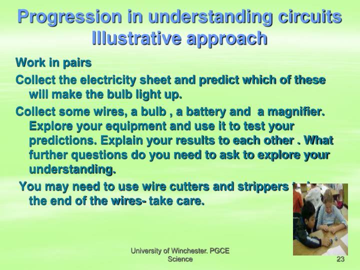Progression in understanding circuits