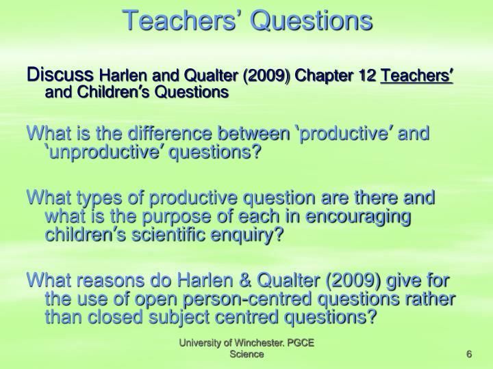 Teachers' Questions