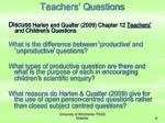 teachers questions