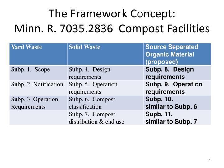The Framework Concept: